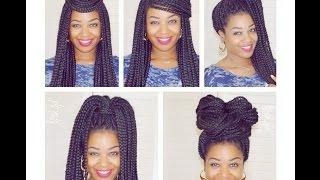 5 quick box braid hair styles   natural hair   i am posh syd