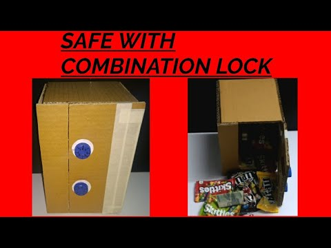 How to make a safe with combination lock using cardboard DIY | CREATIVE CRAFTS