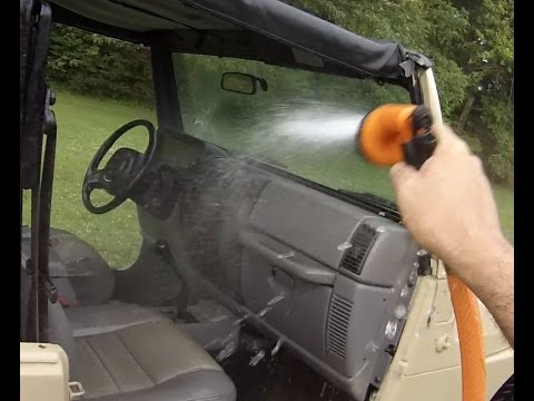 wash a Jeep Wrangler inside and out - YouTube