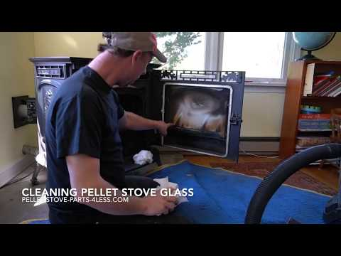 How To Clean Pellet Stove Glass without Glass Cleaner