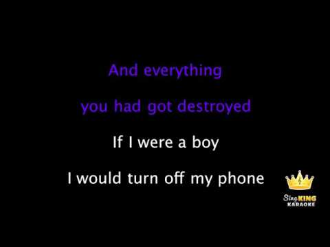 Beyonce If I Were A Boy Karaoke Version