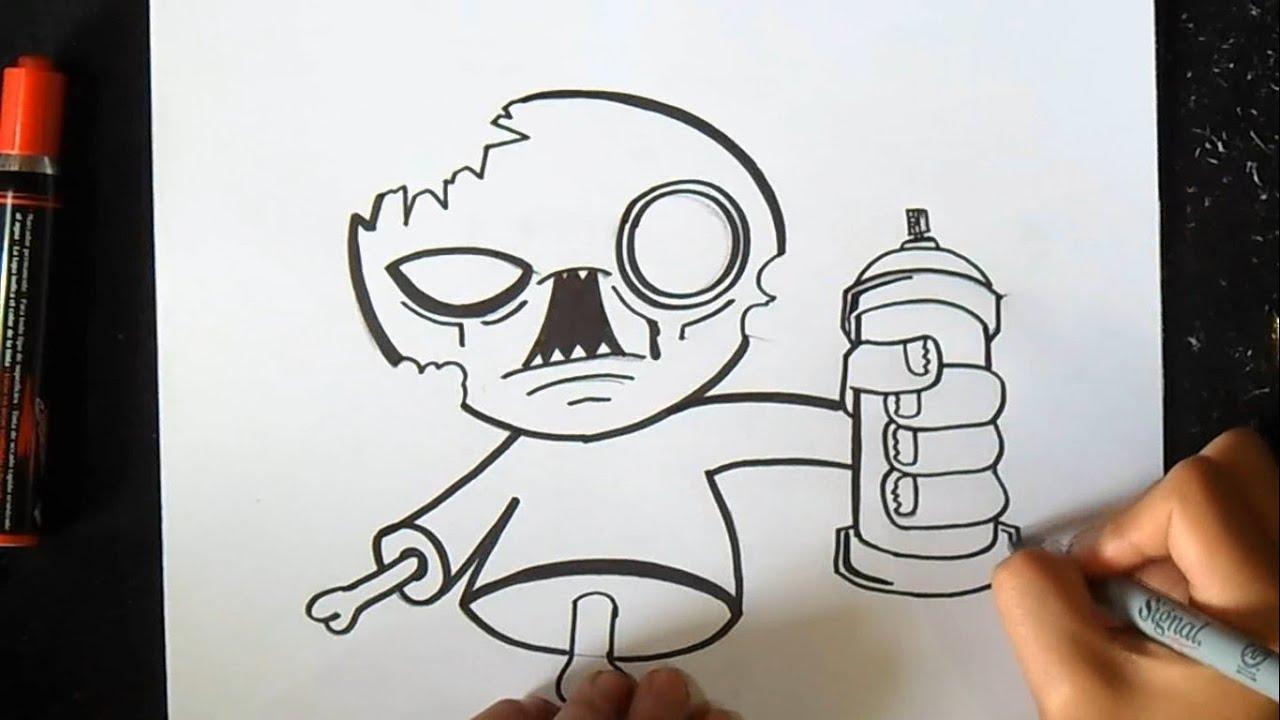 cómo dibujar un Zombie con spray Graffiti
