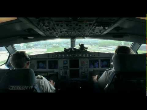 Zürich - Shanghai Airbus A340 Cockpit View [HD]