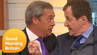 Piers Loses Control of Nigel Farage's Brexit Row With Alastair Campbell | Good Morning Britain thumbnail