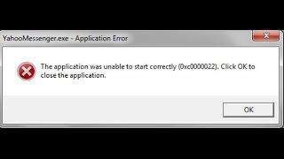 ошибка при запуске приложения 0xc0000022
