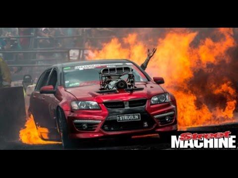 Car Burnout Live Wallpaper Struglin Sets Everything On Fire At Summernats 28 Youtube