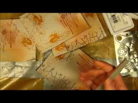 TUTORIAL - How to make affirmation pages with mixed media stamps from Vilda Stamps