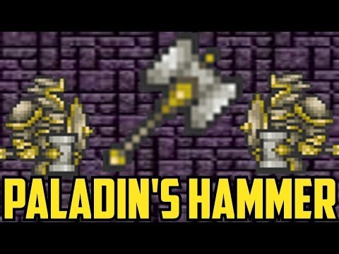 Terraria 1.2 - Paladin's Hammer - How to Get It, Boss Tests