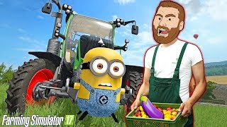 FARMER HIKE - PUTTING THE MINIONS TO WORK!!  Farming Simulator 2017 Gameplay - MINION MOVIE MOD