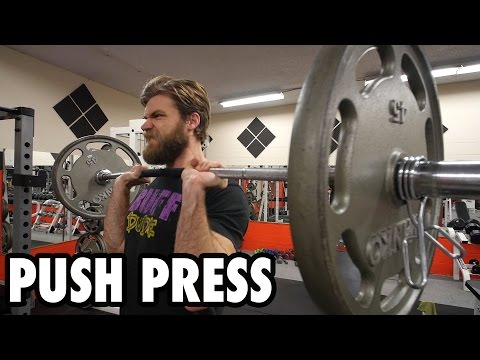 How to Perform the PUSH PRESS Shoulder Exercise Tutorial