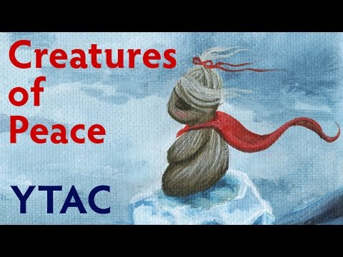 Creatures of Peace Ice Fantasy Painting - YTAC (Youtube Artist's Collective) | Acrylic on Canvas