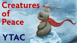 Baixar Creatures of Peace Ice Fantasy Painting - YTAC (Youtube Artist's Collective)   Acrylic on Canvas
