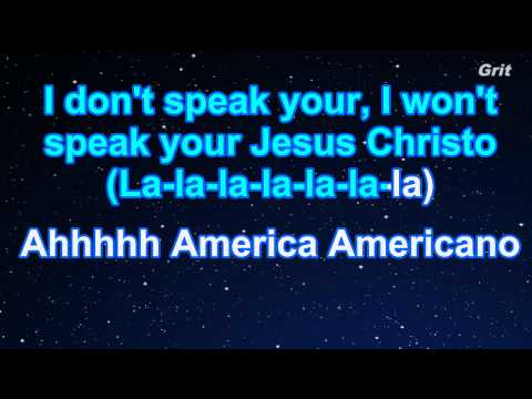 Americano - Lady Gaga Karaoke【No Guide Melody】
