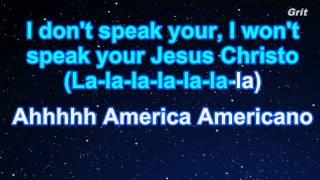 Americano - Lady Gaga Karaoke【No Guide Melody】
