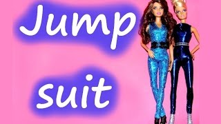 How to make Doll Clothes - Jumpsuit for Dolls tutorial