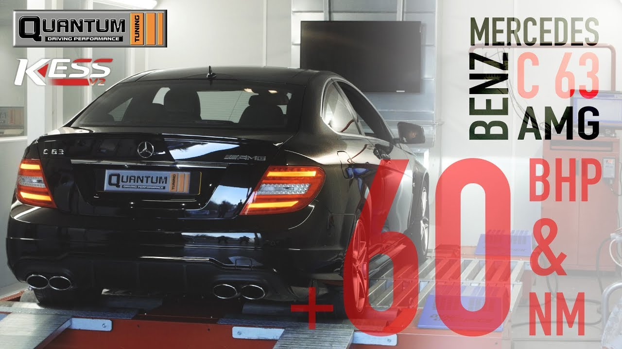 Mercedes Benz C63 AMG Remap & Dyno Run | Quantum Tuning
