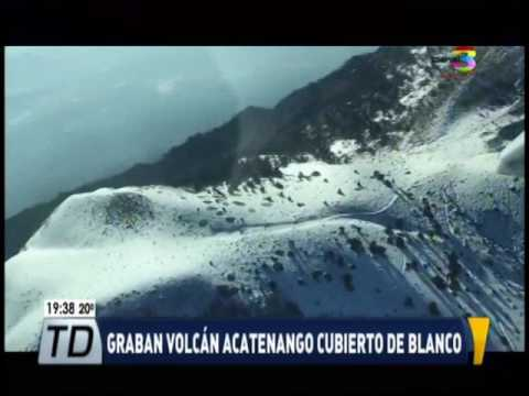 Nieve en Guatemala, un inusual fenómeno