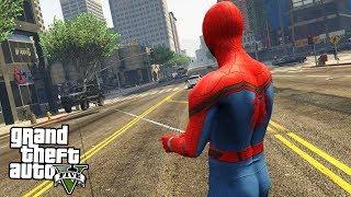 GTA 5 МОДЫ: ЧЕЛОВЕК ПАУК - Spiderman(Рубрика gta 5 моды, сегодня будет человек паук или Spiderman. Человек паук будет спасать Лос Сантос в GTA 5. Для мобил..., 2016-07-30T10:41:30.000Z)