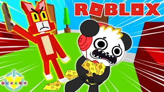 ESCAPE CRAZY ROBLOX KITTY! VTubers Let's Play with Combo Panda