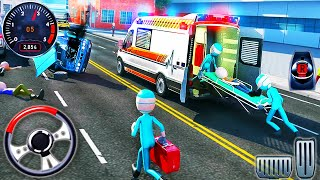 City Ambulance Rescue Roof Jumping-Emergency Van Stunts Drive-Android GamePlay