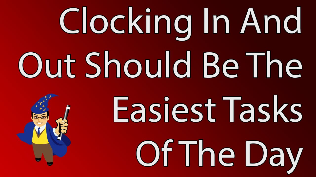 clocking in and out with time clock wizard youtube
