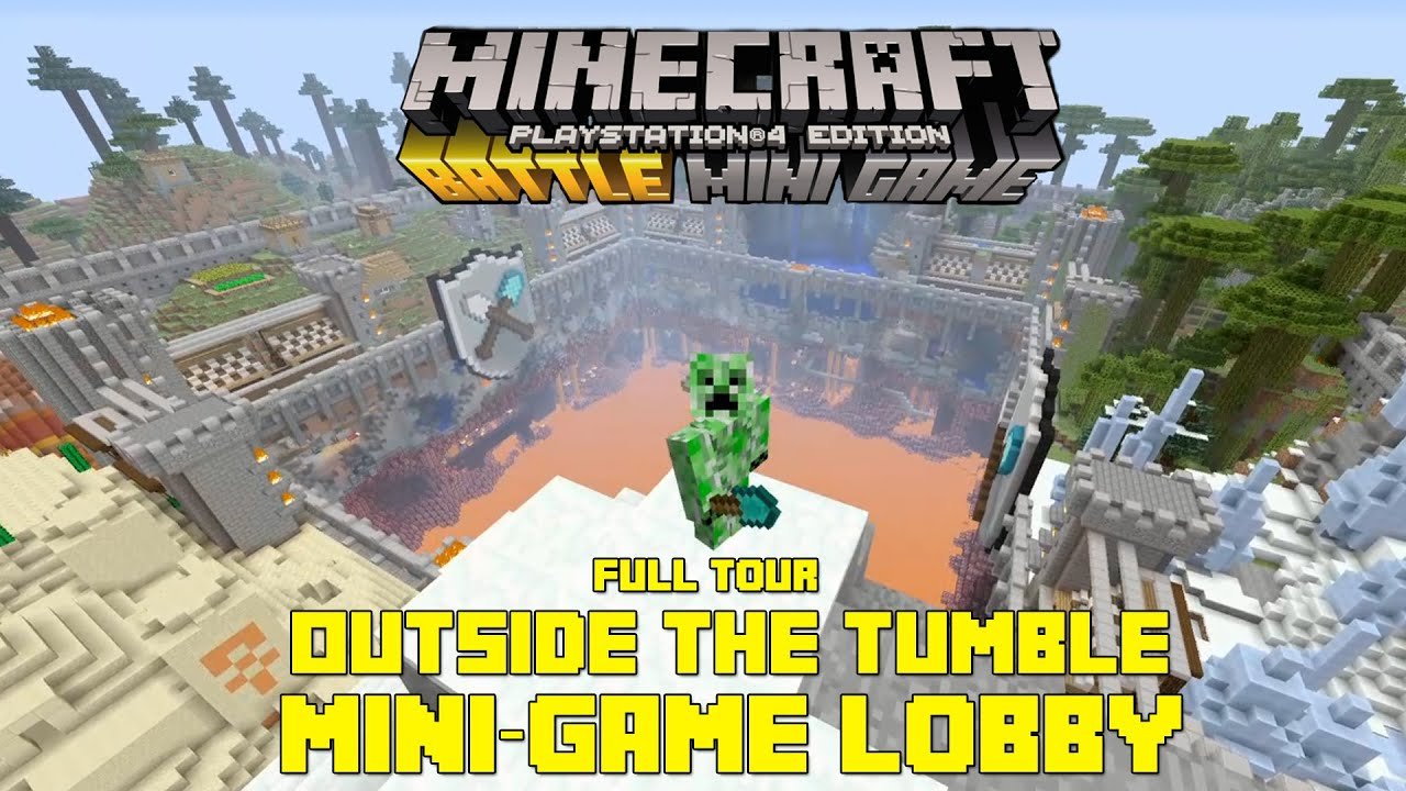 PSXBOX ONE MINECRAFT BATTLE MINI GAME FULL TOUR OUTSIDE OF THE - Minecraft spiele lobby