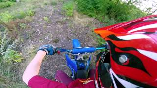 125cc pit bike riding