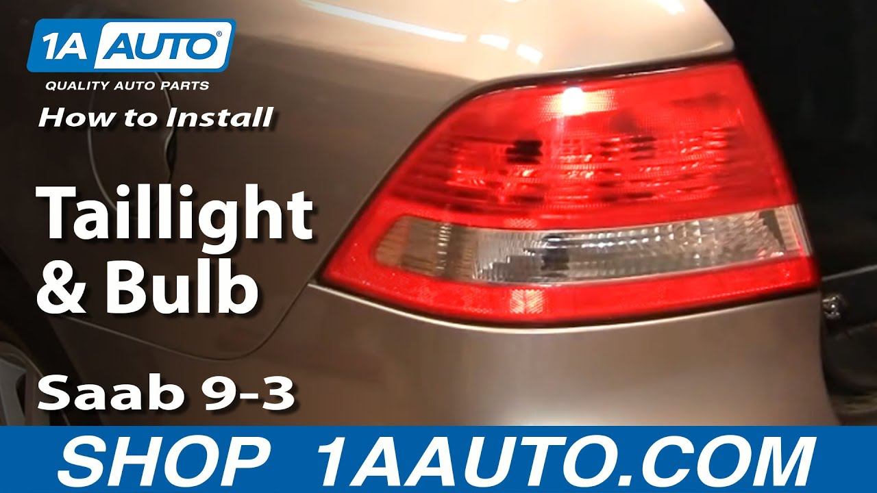 how to replace taillight and bulb 03 10 saab 9 3 [ 1280 x 720 Pixel ]