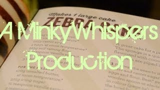 Asmr ~zebra Cake - Recipe 2 ~ Close Up Whisper Mouth Sounds **warning Tingles Inside!!**