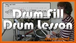 ★ Basket Case (Green Day) ★ Drum Lesson | How To Play Drum Fill (Tre Cool)