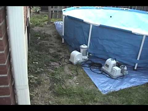 2012 Setting up 12x30 pool - YouTube