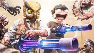 WE TOOK ON ZOMBIES WITH THE MOST OVERPOWERED ZOMBIE WEAPON AND BLOW UP DOLLS ON RUST!