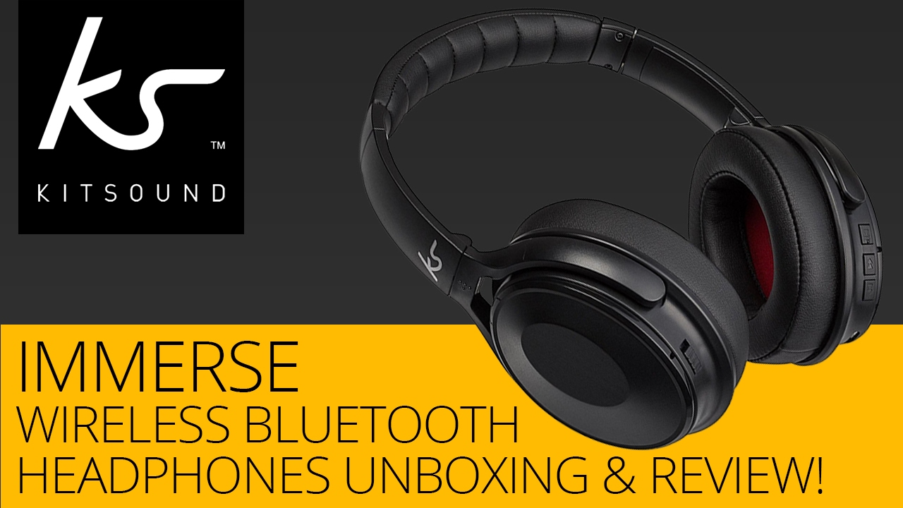 f34778730d1 KitSound Immerse Wireless Bluetooth Headphones Unboxing & Review ...