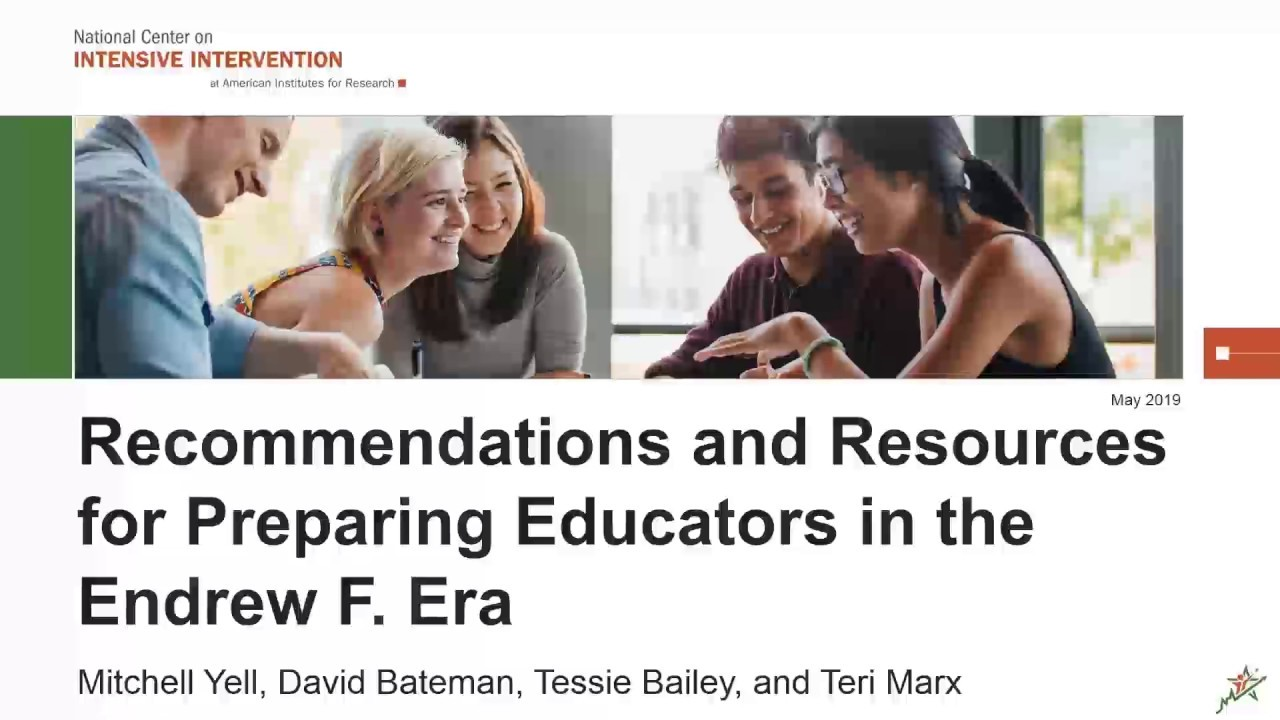 Who Won Endrew F >> Recommendations And Resources For Preparing Educators In The Endrew