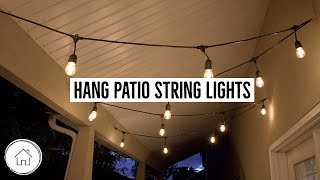 How To Hang Patio String Lights Youtube