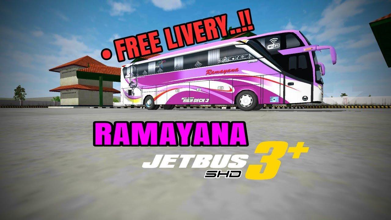 Bussid Ramayana Jetbus 3 Shd Free Livery Bagibagiliverybussid