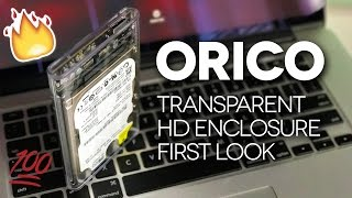 TRANSPARENT EXTERNAL HARD DRIVE! - ORICO Transparent Enclosure UNBOXING & REVIEW