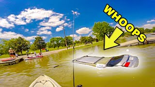 Teenager SINKS Dad's Car While I'm Fishing!!! (DISASTER)