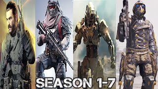 Call Of Duty Mobile All season 1-7 And Characters Trailer