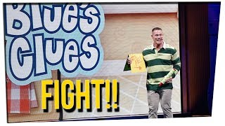john cena challenged by former blue s clues host ft steve greene amp davidsocomedy