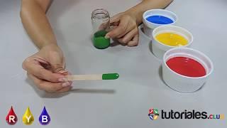 Colores Secundarios en el Modelo de Color ROJO AMARILLO Y AZUL   TEORIA DEL COLOR parte 4