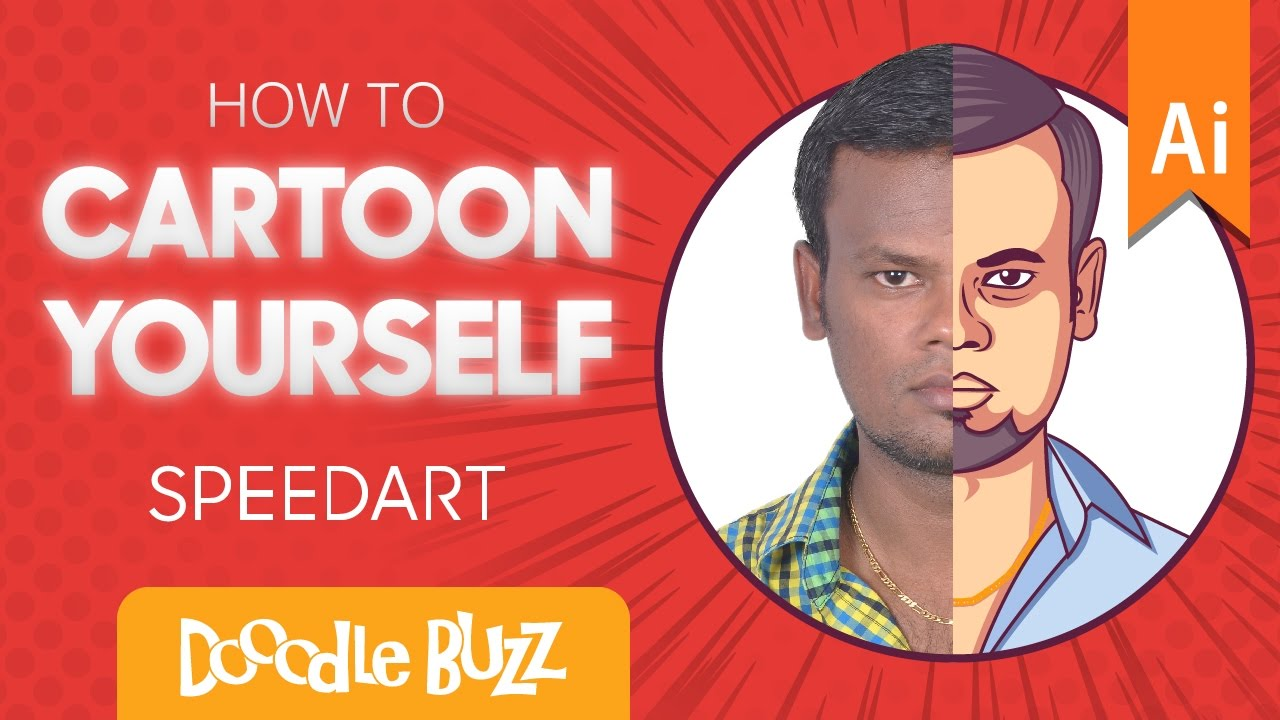 how to make a cartoon of yourself illustrator