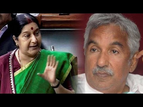 Sushma Swaraj, Oommen Chandy battle over Indians evacuated from Libya | Oneindia News