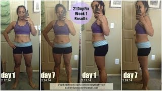 21 Day Fix Results - Week 1 Experience, Vlog, Meals & Pictures
