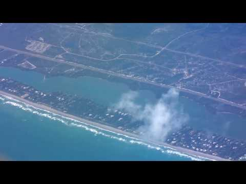 Orlando-Miami flight: Cocoa, Palm Beach, Fort Lauderdale Beach & Airport 2017-01-12