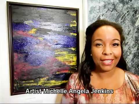 artist Michelle Angela Jenkins in the Interview in  Louvre
