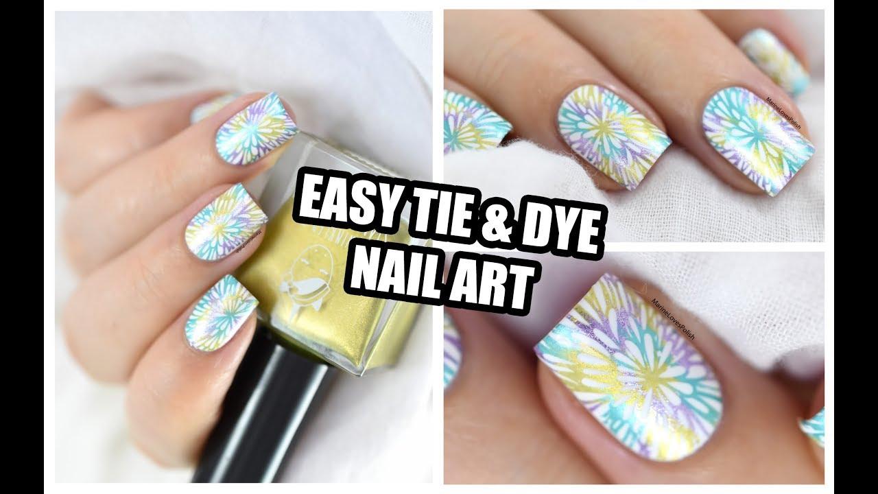 Easy Tie & Dye Nail Art Tutorial || Marine Loves Polish - YouTube