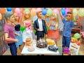 العاب باربي : مفاجأة باربي لكين في حفلة عيد ميلاد التوأم باربي وكين / عائلة مشيع / عائلة عمر / شفا