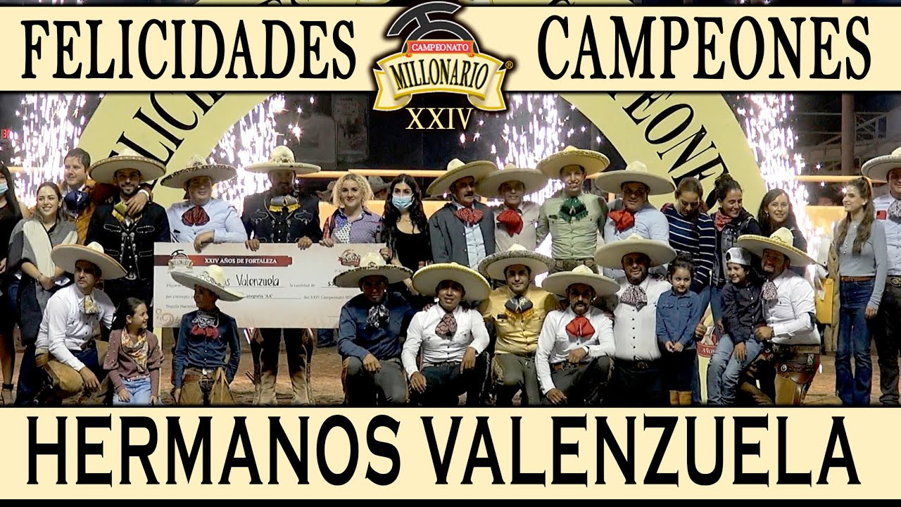 CAMPEONES AA - Hermanos Valuenzuela, Qro - Campeonato Millonario 2021 THV