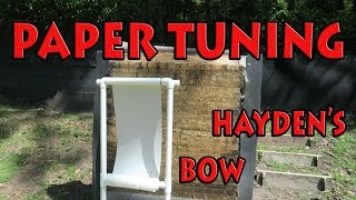 Paper Tuning Hayden's hyperedge compound bow